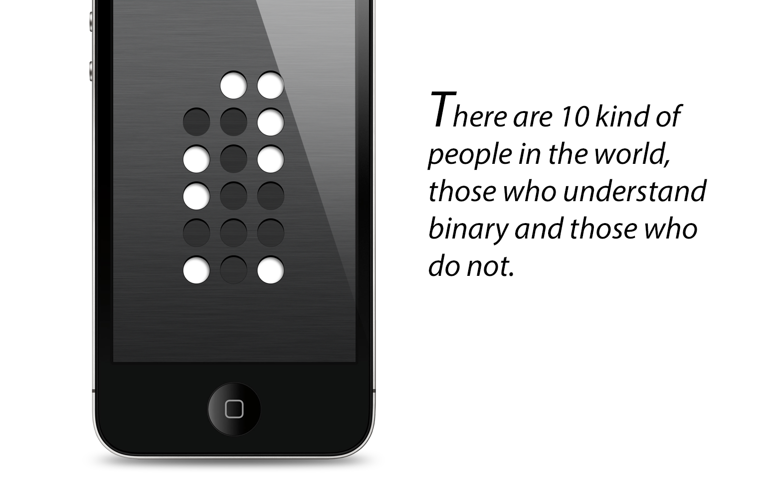 Binary clock iPhone app, slide 1