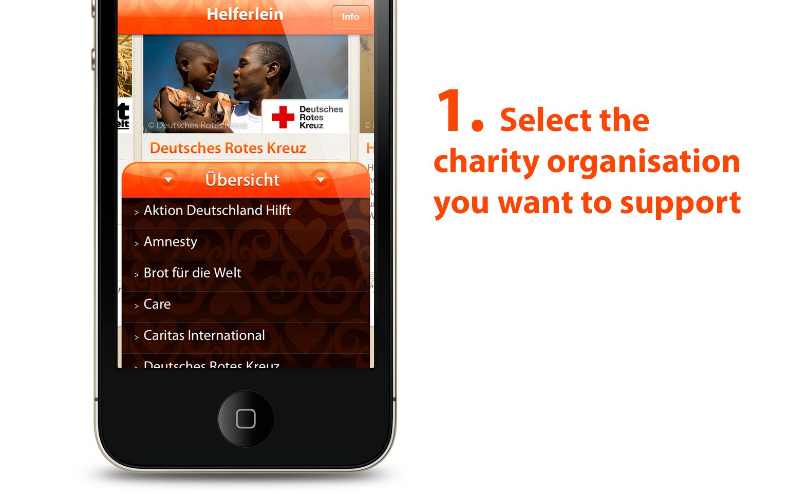 Helferlein charity iPhone app - slide 2